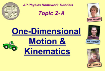 Topic 2-A Physics Homework Tutorial Vodcasts