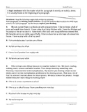 Topic Sentence and Details 3rd Grade