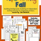Topic Writing FALL lessons for beginning writers