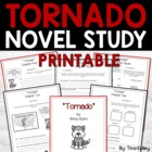 Tornado By Betsy Byars - Novel Study Reading Comprehension