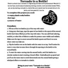 Tornado in a Bottle Activity Directions