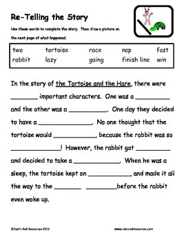 Tortoise and the Hare - FREE Reading Response Packet