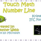 Touch Math Number Line with Kristen ITC font