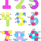 Touch Math posters, number lines, and math wall printables