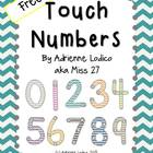 Touch Numbers for Math FREE Chevron Colors Theme with stud
