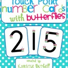 Touch Point Number Cards with Butterflies 1-9