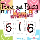 Touch Point Number Cards with Hearts 1-9 Valentines Day