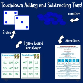Touchdown Adding and Subtracting Ten