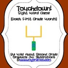 Touchdown! Sight Word Game (Dolch First Grade List)