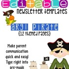 Newsletter Templates (12 included): Tough Pirate Theme