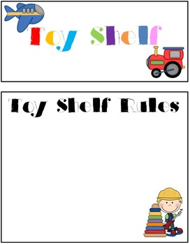 Toy Shelf Labels - 14 pages