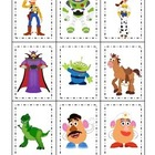 Toy Story themed Three Part Matching preschool and daycare