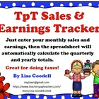 TpT Sales and Earnings Tracker for 2012  (Yearly, Quarterl