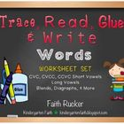 Trace, Read, Glue & Write (Words)