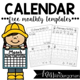 Traceable & Blank Monthly Calendar Templates {2015}