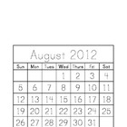 Traceable Monthly Calendar August 2012 - May 2013