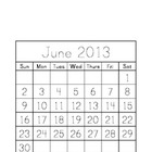 Traceable Monthly Calendar June 2013 - June 2014