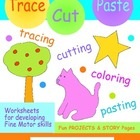 Tracing & Cutting Practice Worksheets & Activities