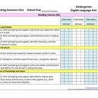 Tracking Common Core K English Language Arts Checklist