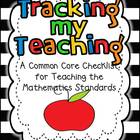 Tracking My Teaching...A Common Core Checklist for the Mat