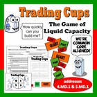 Trading Cups - liquid capacity conversion math game