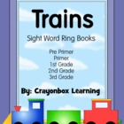 Train - Tracing Sight Word Ring Books - 5 Dolch Lists
