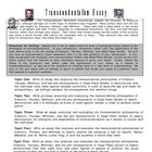 Transcendentalism Essay and Rubric