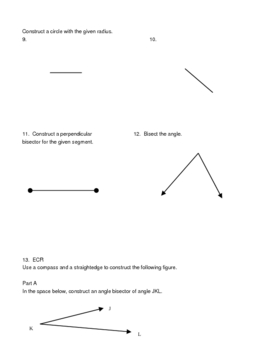 Transformations & Constructions Practice/Test/Review/Quiz