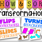 Transformations Sorting (Flips, Turns, and Slides) - perfe