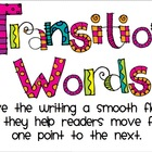 Transition Words Poster for Writing