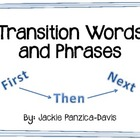 Transition Words and Phrases - 11 Posters and Student Chart