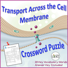 Transport Across Membranes Crossword Puzzle (Osmosis, Diffusion)