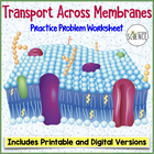 Transport Across the Cell Membrane Worksheet (Osmosis, Diffusion)