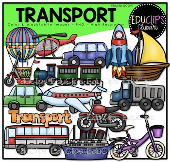 Transport Clip Art Bundle