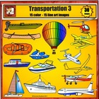 Transportation Clip Art 3 - boat plane water and air trans