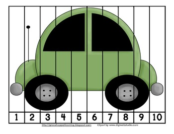Transportation Number Order and Skip Counting Puzzles