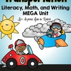 Transportation On The Go - A Common Core Literacy, Math,an