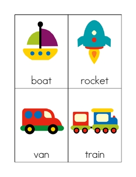 Transportation Theme Unit - Worksheets File Folder Games