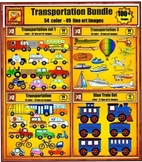 Transportation Value Bundle Clip art Set