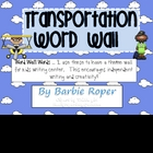 Transportation Word Wall Words
