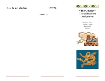 Travel Brochure for Odysseus