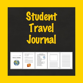 Travel Journal, Student Travel Journal, School Vacation Journal