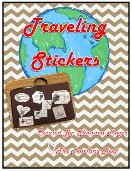Traveling Stickers {A Traveler's Suitcase Decoration}