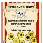 Treasure Hunt Consonant Blend and Digraph Reading Game