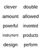 Treasures 2011 Vocabulary Words Second Grade for shipping labels