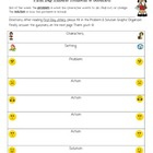 Treasures 3rd Grade-First Day Jitters Problem Solution Chart