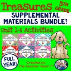 Treasures 5th Grade Language Arts Reading Full Year Bundle