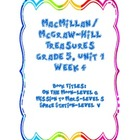 Treasures 5th grade, Unit 1, Week 4 -Small Group Book Acti