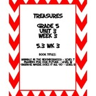 Treasures 5th grade, Unit 3, Week 3 - Small group book act