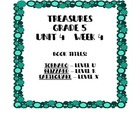 Treasures 5th grade, Unit 4, Week 4 - Small Group Book Act